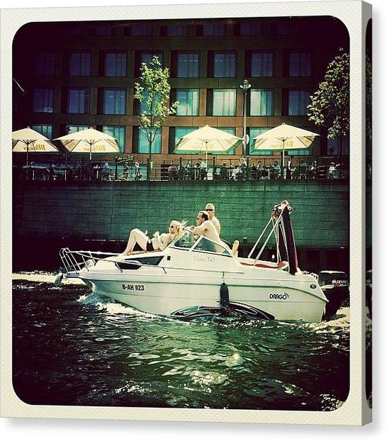 Yachts Canvas Print - I ❤ Summer In Berlin. My Third Entry by Uwa Scholz