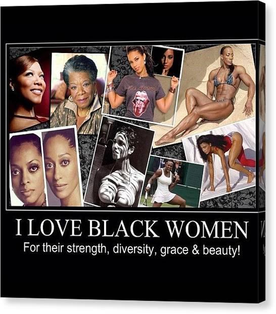 Athlete Canvas Print - I Love Black Women by Nigel Williams