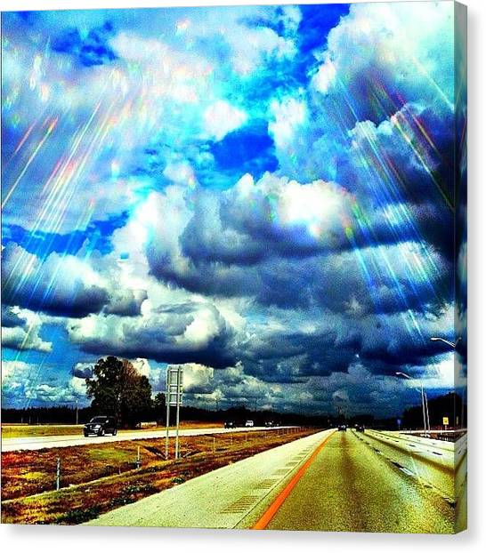 Driving Canvas Print - #ig #igers #iphoto #igdaily #ignation by Matt Turner