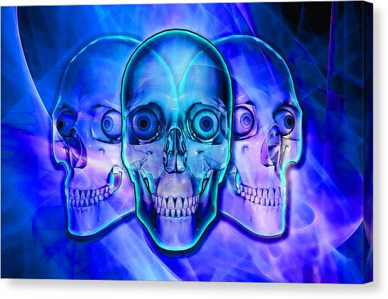Illuminated Skulls Canvas Print