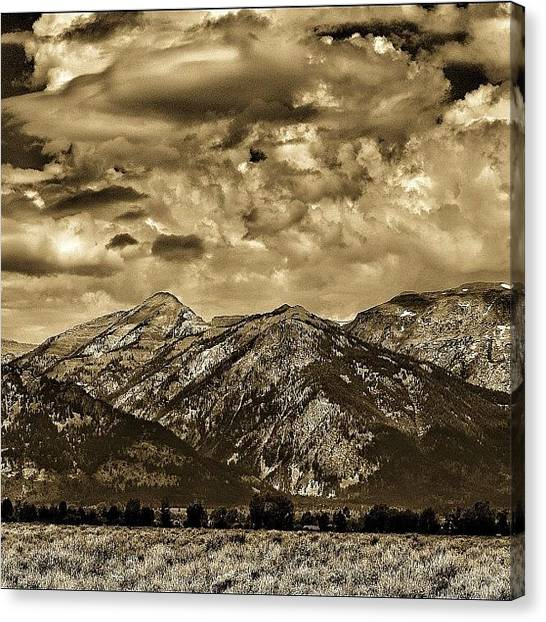 Tetons Canvas Print - In This Place, I Think Back To The Days by Chris Bechard