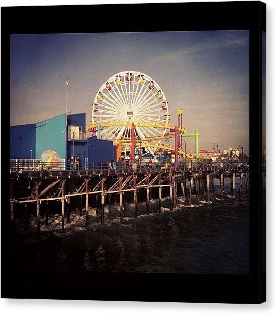 Santa Monica Pier Canvas Print - Instagram Photo by Ninette Quiles