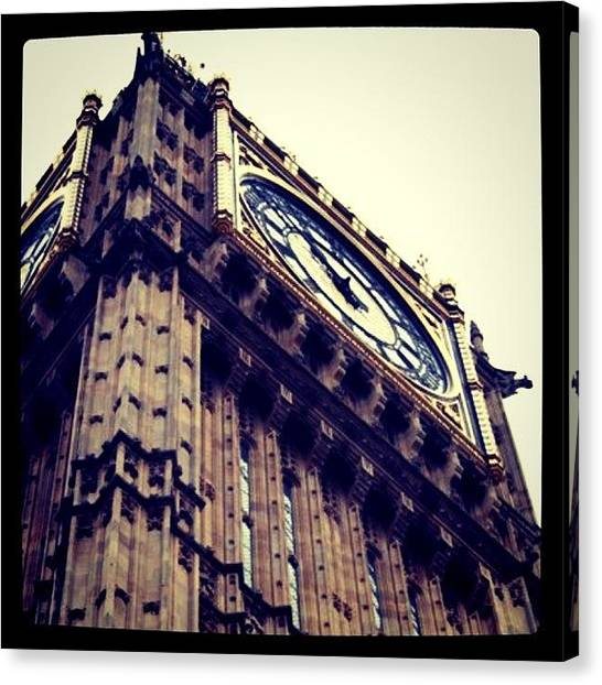 Big Ben Canvas Print - Instagram Photo by Xavier M
