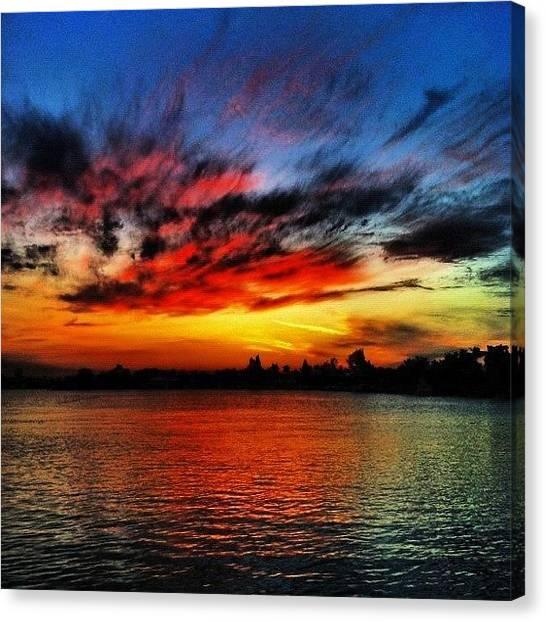 Ocean Sunrises Canvas Print - #instanusantara #instaadict by Alexandr Dobrovan