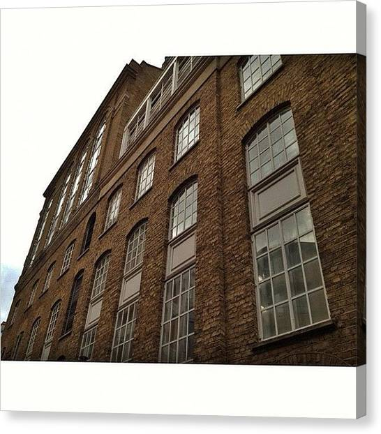 Warehouses Canvas Print - #iphone #iphone4 #instahub #instagram by Lloyd  Drew