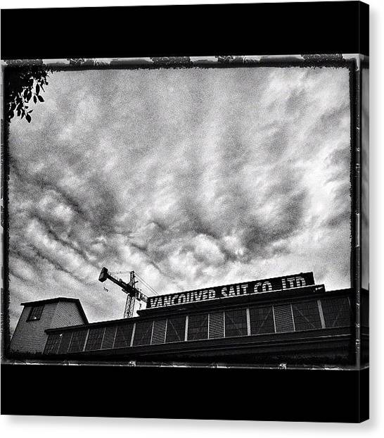 Bacon Canvas Print - #iphoneography #blackandwhite by Neil Bacon