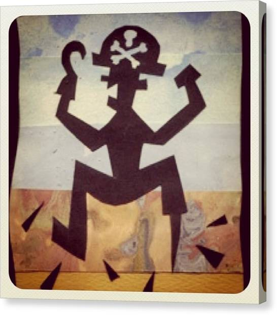 Skulls Canvas Print - Irate Pirate by Chris Jones