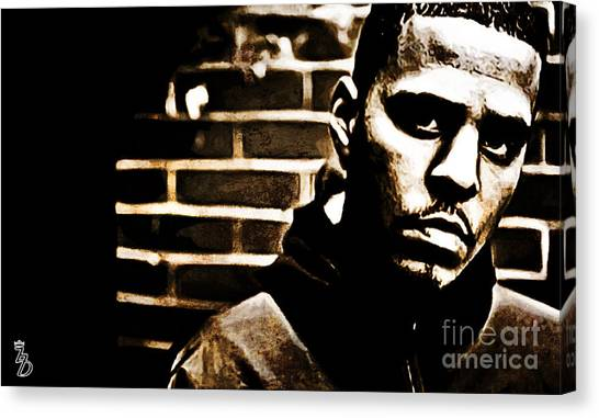 Jay Z Canvas Print - J Cole by The DigArtisT