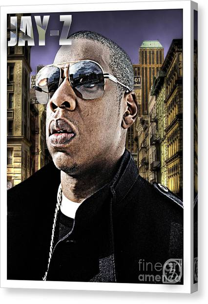 Jay Z Canvas Print - Jay Z by The DigArtisT