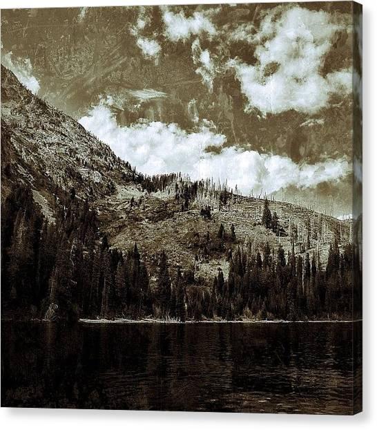Tetons Canvas Print - Jenny Lake, Tetons. #alpine #all_photos by Chris Bechard