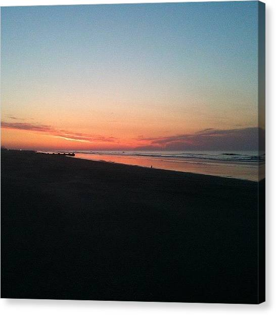 Jerseys Canvas Print - Jersey Shore Sunrise by Bill Cannon