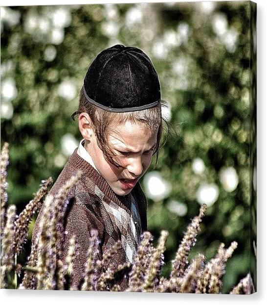 Kids Canvas Print - Jewish Boy - New York by Joel Lopez