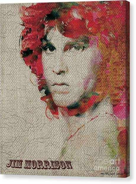 Jim Morrison Canvas Print by Max Cooper