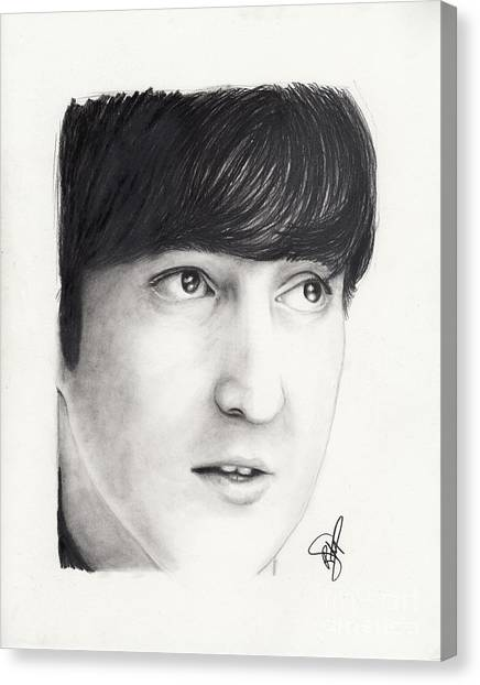 John Lennon Canvas Print by Rosalinda Markle