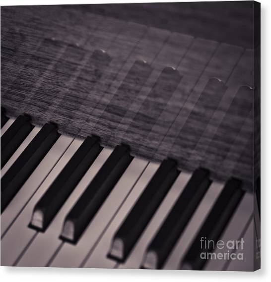 Synthesizers Canvas Print - Keys Of Piano by Chavalit Kamolthamanon