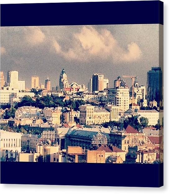 Lounge Canvas Print - #kiev #picturesque #rooftop #beauty by Anna P