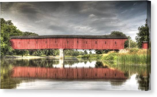 Kissing Bridge Montrose Ontario Canada Canvas Print