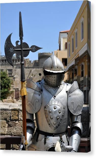 Knight Armor. Canvas Print by Fernando Barozza