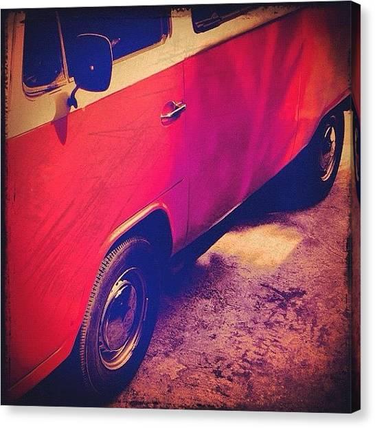 War Canvas Print - #kombi #combi #vintage #volkswagen by War Ner