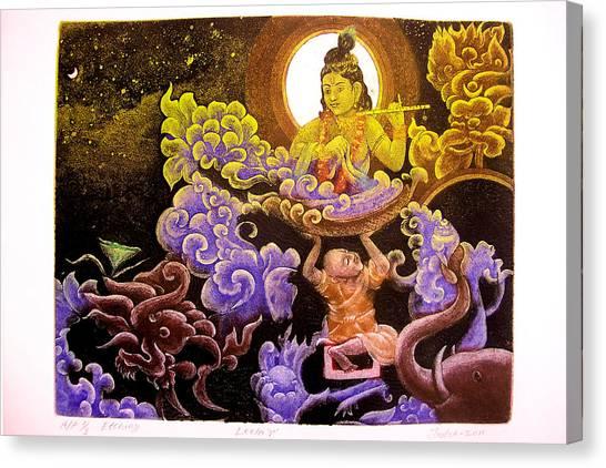 Krishna Leela Canvas Print by Indra Khatri