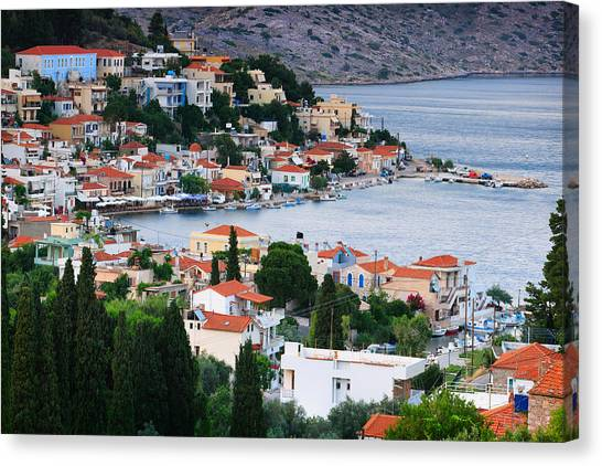The Parthenon Canvas Print - Lagada. Chios Greece  by Emmanuel Panagiotakis