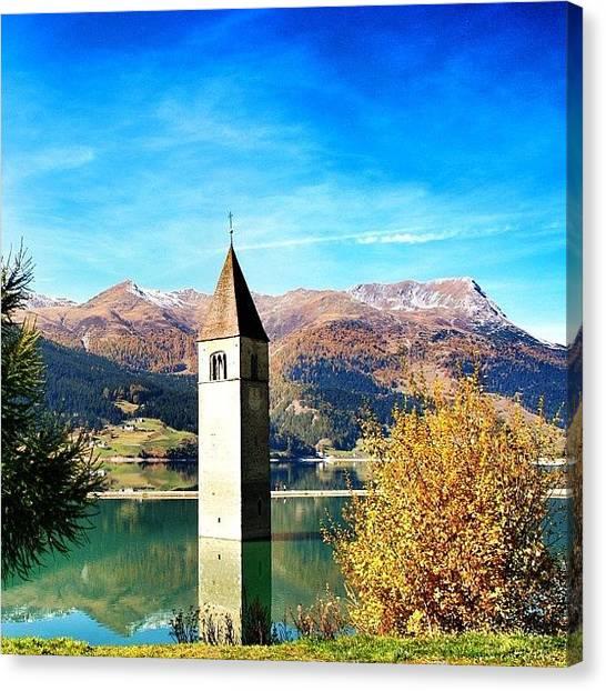 Italy Canvas Print - Lago Di Resia - Alto Adige. Reshen by Luisa Azzolini