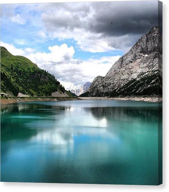 Weather Canvas Print - Lago Fedaia by Luisa Azzolini