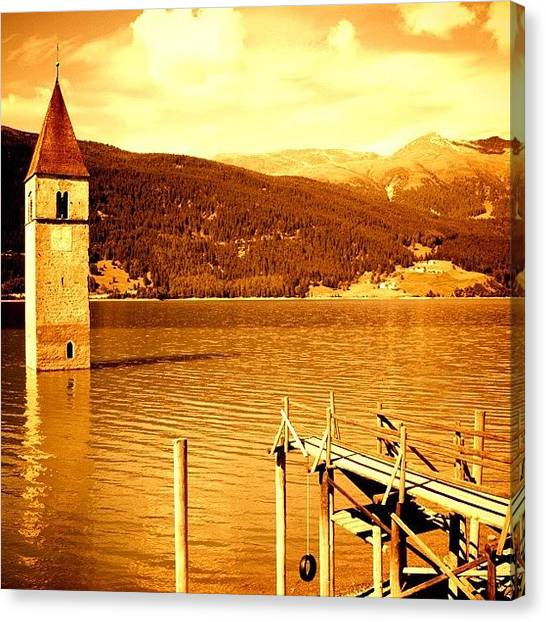 Italy Canvas Print - Lake Of Resia by Luisa Azzolini