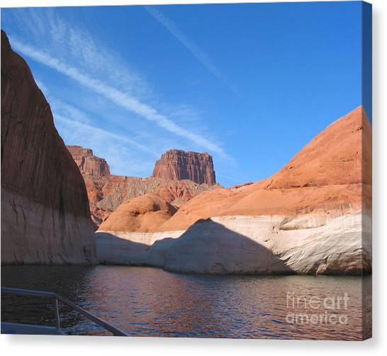 Lake Powell Shoreline Canvas Print by Merton Allen