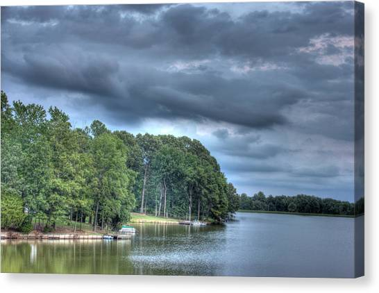 Lakeside Canvas Print by Barry Jones