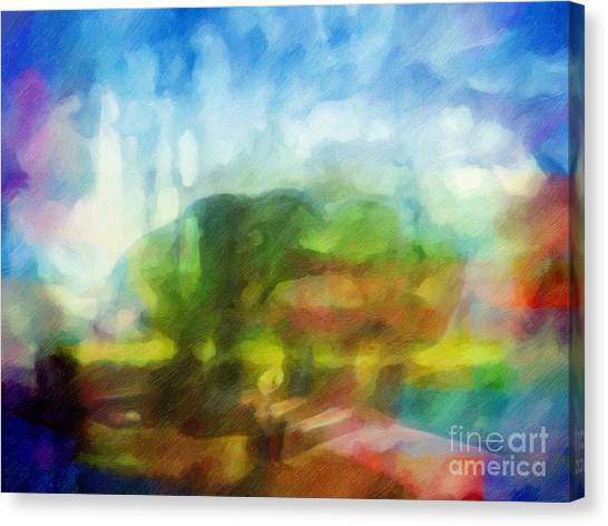 Landscape Impression Canvas Print by Lutz Baar