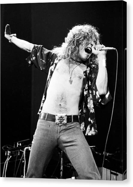 Robert Plant Canvas Print - Led Zeppelin Robert Plant 1975 by Chris Walter