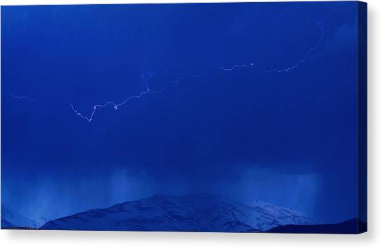 Lightning Canvas Print by Peter Bolton