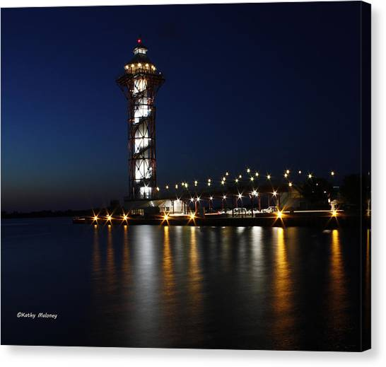 Lights On The Bay Canvas Print