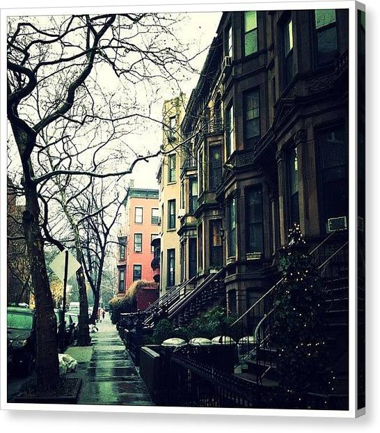 Rain Canvas Print - Lincoln Place (park Slope, Brooklyn) by Natasha Marco