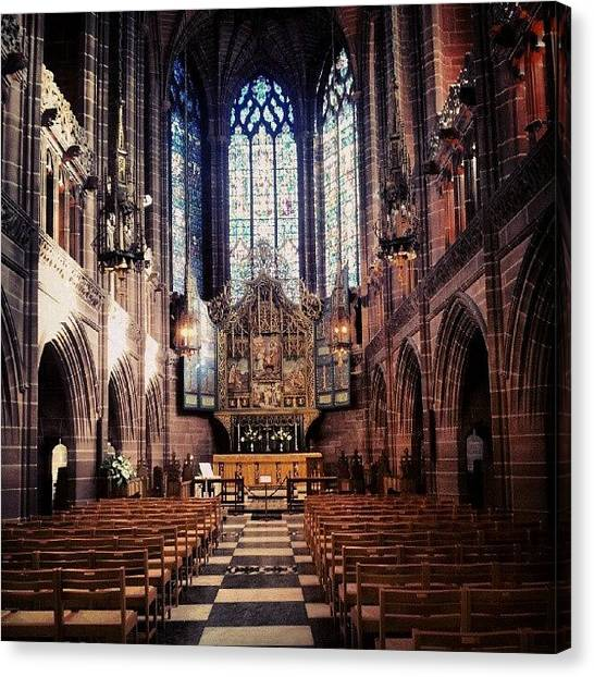 Classic Canvas Print - #liverpoolcathedrals #liverpoolchurches by Abdelrahman Alawwad