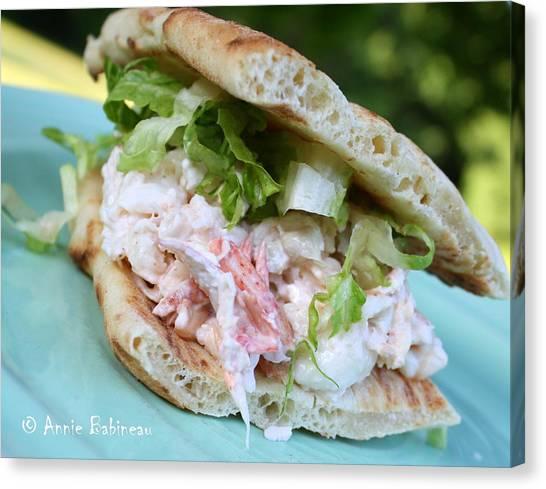 Mayonnaise Canvas Print - Lobster Salad Sandwich by Annie Babineau