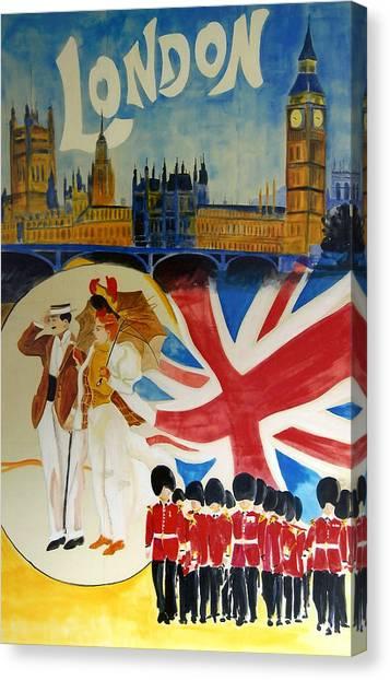 Royal Guard Canvas Print - London by Georgia Fowler