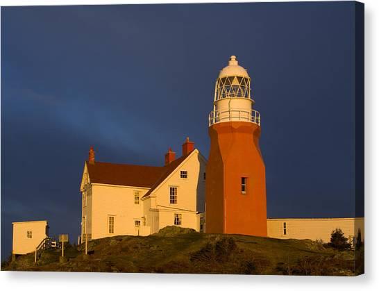Newfoundland And Labrador Canvas Print - Long Point Lighthouse, Twillingate by John Sylvester