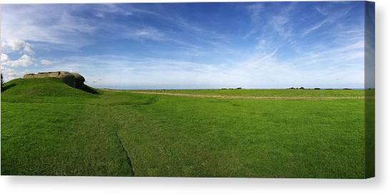 Longues Battery Canvas Print by Jan W Faul