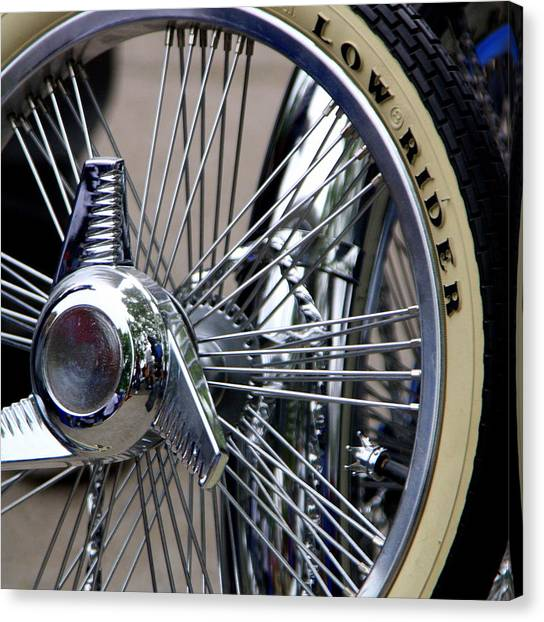 Low Rider And Silver Spokes - II Canvas Print by Tam Graff