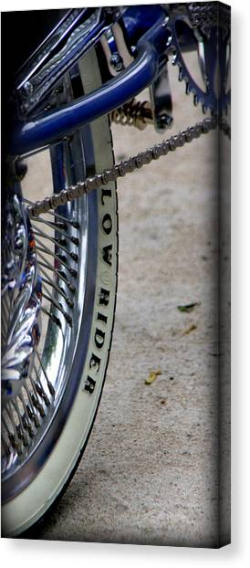 Low Rider In Blue Canvas Print by Tam Graff