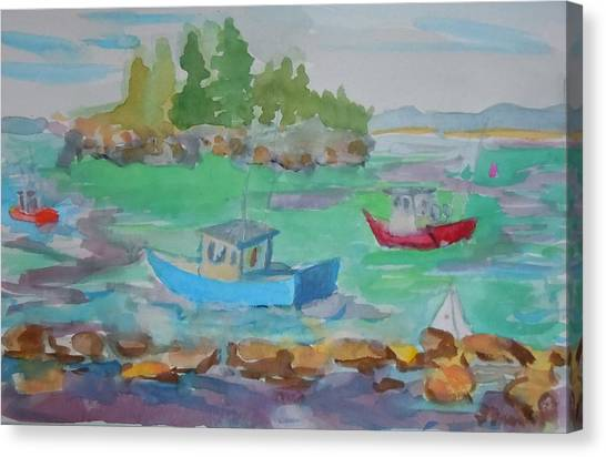 Lubec Lobster Boats Canvas Print