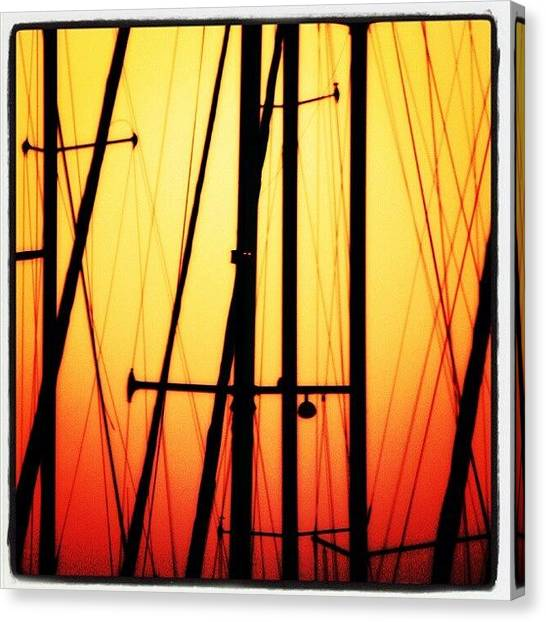 Marinas Canvas Print - Master Sunset by Mandy Shupp