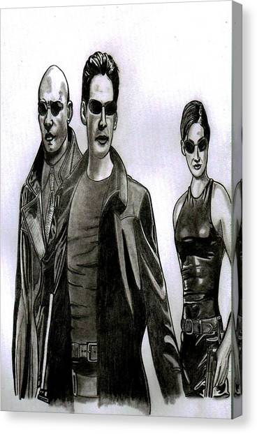 Keanu Reeves Canvas Print - Matrix Revisited  by Ralph Harlow