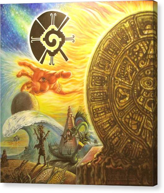 Mayan Predictions 2012 Canvas Print by Joe Santana