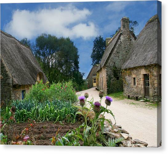 Medieval Village Canvas Print