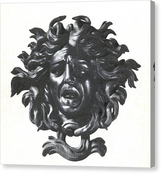 Gorgons Canvas Print - Medusa Head by Photo Researchers