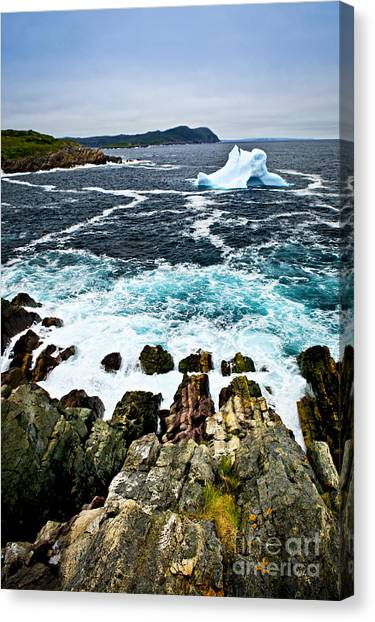 Ice Caves Canvas Print - Melting Iceberg by Elena Elisseeva