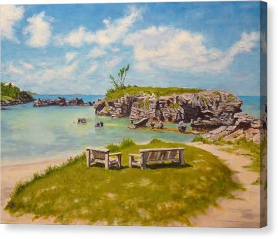 Memories Tobacco Bay Bermuda Canvas Print